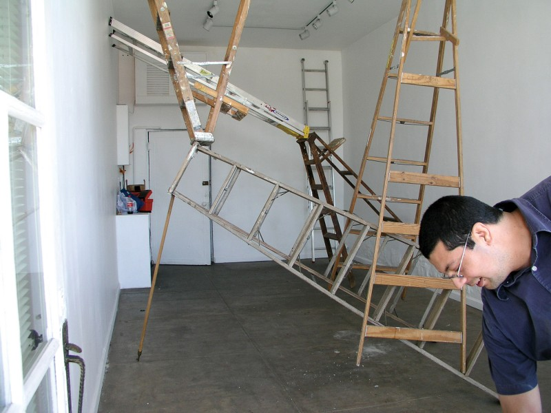 Ruben Ochoa, Borrowed Ladders, February 2, 2005.